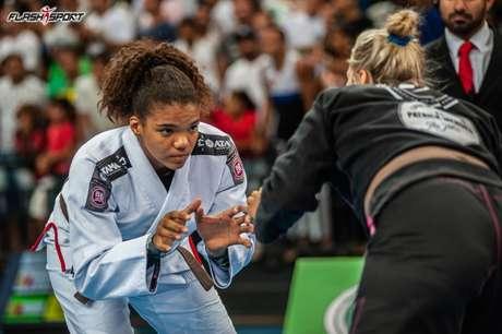 Gabi Pessanha foi a destaque do evento que aconteceu no sábado (1) na Arena Carioca 1, no Rio (Foto: Flash Sport)