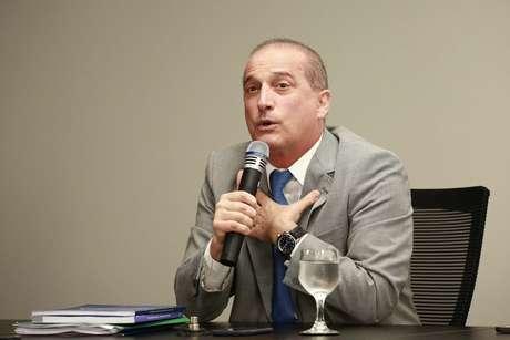 O Ministro Onyx Lorenzoni concede coletiva de imprensa no CCBB em Brasília (DF), nesta segunda-feira (03)