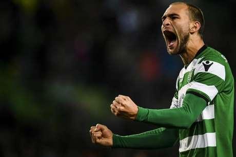Bas Dost marcou mais um gol pelo Sporting (Foto: Patricia de Melo Moreira / AFP)