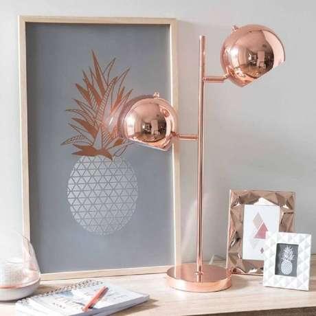 22. A cor rose gold leva um toque super delicado para a decoração – Foto: We Heart It