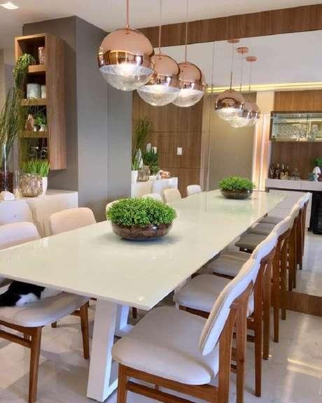 53. A cor rose gold é perfeita para decoração de ambientes que mesclem modernidade com sofisticação – Foto: Ap 402