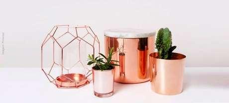 59. Lindos modelos de objetos de decoração rose gold – Foto: Pinterest
