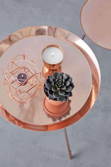 5. A forma mais tradicional de utilizar o rose gold é através de objetos decorativos – Foto: Beauty Hunter
