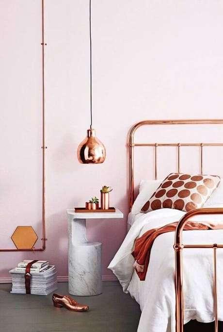 71. Decoração para quarto rose gold – Foto: Style Catchers