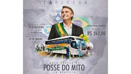 Grupos de Cuiabá compraram pacote de ônibus para ir a Brasília