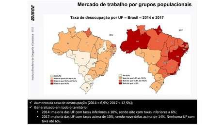 Taxa de desocupação no Brasil subiu de 6,9% para 12,5%