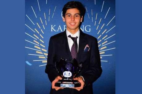 Gabriel Bortoleto foi premiado em festa de gala da CIK/FIA