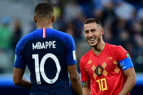 Craques durante a Copa do Mundo (Foto: AFP)