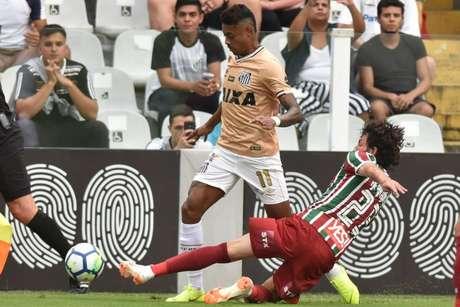 Bruno Henrique desmentiu recentemente o presidente do Santos, José Carlos Peres, sobre ter sete clubes interessados em seu futebol- (Foto: Ivan Storti/Santos)