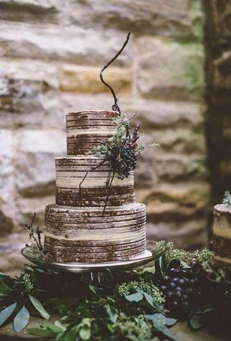 11. É importante que o bolo de casamento simples e bonito também seja saboroso – Foto: Wedding Cake Flavors