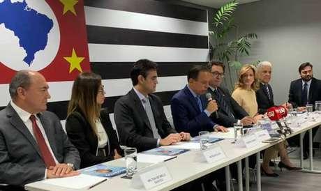 O governador eleito João Doria anuncia cinco novos integrantes de seu futuro governo