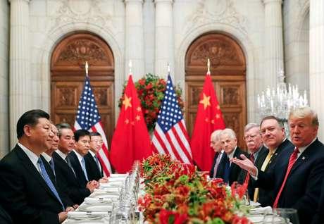 Reunião entre presidente dos EUA, Donald Trump, e presidente chinês, Xi Jinping, em Buenos Aires 01/12/2018 REUTERS/Kevin Lamarque