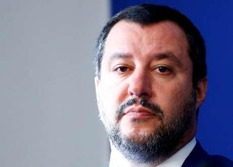 Líder do partido Liga, Matteo Salvini, durante coletiva de imprensa em Roma 08/10/2018 REUTERS/Max Rossi