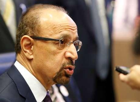 O ministro de Petróleo da Arábia Saudita, Khalid al-Falih, em reunião da Opep em Viena, na Áustria REUTERS/Leonhard Foeger