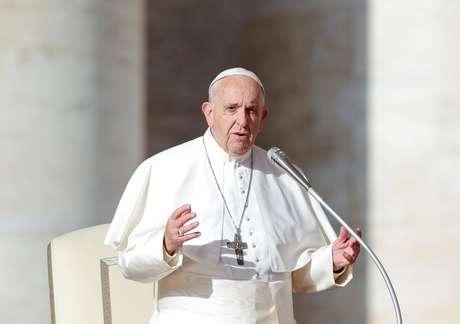 Papa Francisco na Praça de São Pedro, no Vaticano 21/11/2018 REUTERS/Alessandro Bianchi