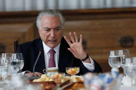 Presidente Michel Temer durante café da manhã com jornalistas no Palácio da Alvorada 06/12/2018 REUTERS/Adriano Machado