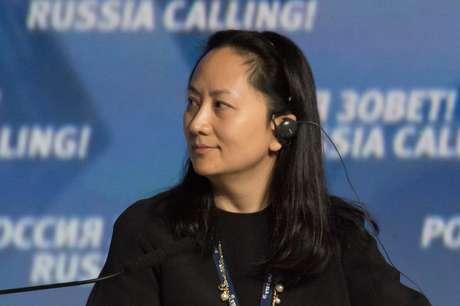 """Meng Wanzhou, vice-presidente de finanças da chinesa Huawei, participa de uma sessão do VTB Capital Investment Forum """"Russia Calling!"""" em Moscou 2/10/ 2014. REUTERS/Alexander Bibik"""