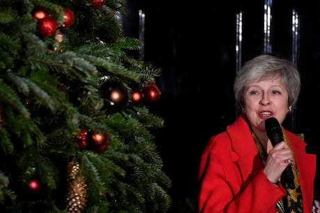 Theresa May em Londres  6/12/2018    REUTERS/ Toby Melville