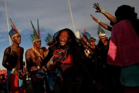 Índios protestam em Brasília 27/04/2017 REUTERS/Ueslei Marcelino