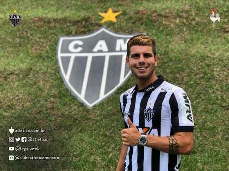 Tomas Andrade oscilou com altos e baixos no clube, não conseguindo uma boa sequência de jogos- (Foto: Divulgação / Atlético-MG)