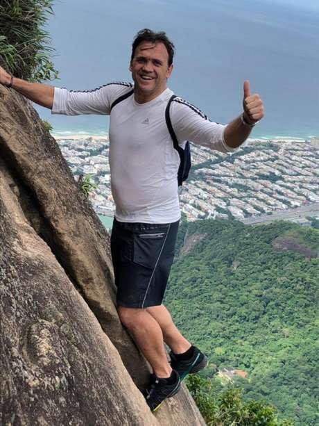 Petkovic completou a trilha da Pedra da Gávea no Rio de Janeiro (Foto: Reprodução/Instagram)