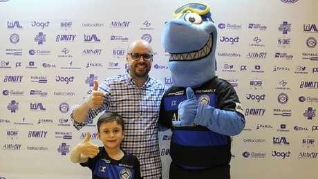 Um dos lançamentos mostrados na última quarta-feira foi o do mascote Téo, um tubarão (Foto: Divulgação)