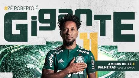 Zé Roberto receberá a homenagem do Palmeiras no dia 13 de janeiro, no Allianz Parque (Foto: Divulgação)