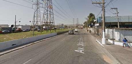 Avenida João Simão de Castro, na região da Vila Sabrina, próximo ao acesso para a Rodovia Fernão Dias, onde ocorreu o caso