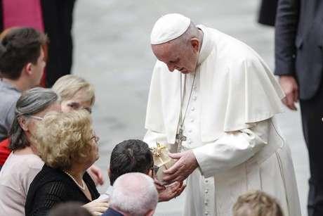Papa Francisco Durante Audiencia Geral No Vaticano