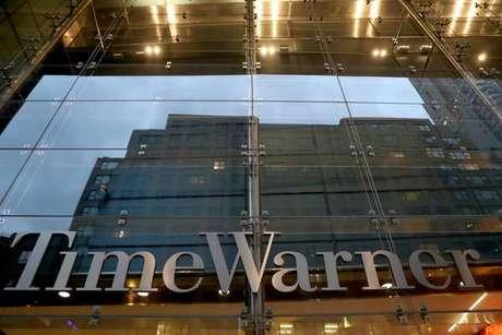 Entrada do Time Warner Center, que abriga a sede da CNN