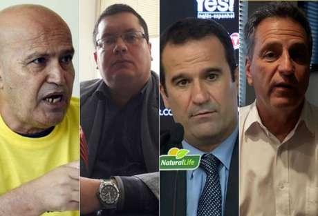 José Carlos Peruano, Marcelo Vargas, Ricardo Lomba e Rodolfo Landim concorrem à presidência (Foto: Divulgação)