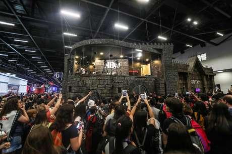 Movimentação de visitantes na abertura da Comic Con Experience (CCXP 2018), na São Paulo Expo