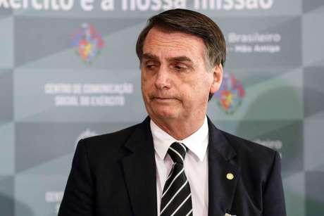 O presidente eleito, Jair Bolsonaro (PSL/RJ), durante coletiva de imprensa sobre o programa de transição do Governo Federal, realizado no Quartel General do Exército Brasileiro, em Brasília, Distrito Federal