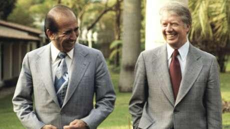 Carlos Andrés Pérez com o presidente dos Estados Unidos, Jimmy Carter, em 1978