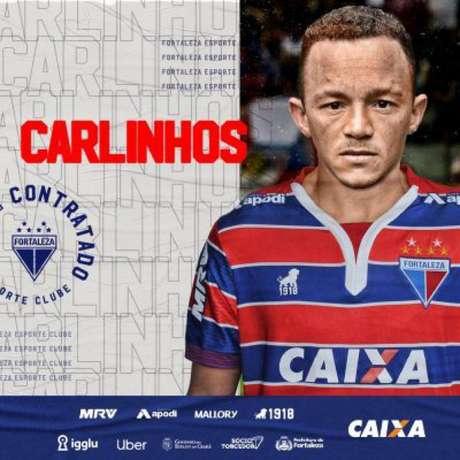 Carlinhos é o novo reforço do Fortaleza (Foto: Divulgação/Fortaleza)