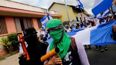 Manifestantes na Nicarágua, onde a repressão já provocou mais de 300 mortes