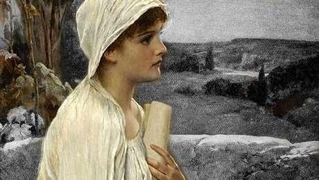 """Era """"extremamente bonita... ao falar, era articulada e lógica, suas ações eram prudentes e de espírito público... a cidade a acolheu como merecia e outorgou a ela um respeito especial"""", diz o texto de uma enciclopédia do século 20 sobre Hipatia"""
