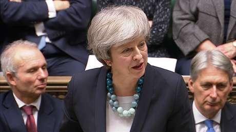 Theresa May faz discurso no Parlamento  10/12/2018