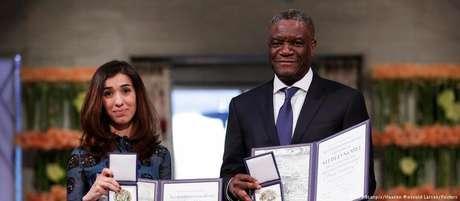 Mukwege e Murad foram agraciados com o Nobel por por combaterem a violência sexual como arma de guerra