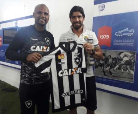 Jefferson e Loco Abreu - Audax Italiano x Botafogo