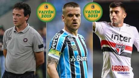 Fernando Diniz, Ramiro, Liziero (Foto: Divulgação)