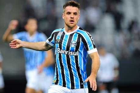 Ramiro, jogador do Grêmio, durante partida contra o Corinthians, válida pela décima nona rodada do Campeonato Brasileiro 2018