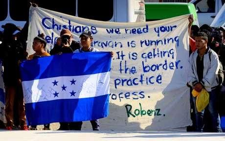 Os integrantes da caravana estão concentrados em Tijuana desde meados de novembro