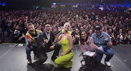 Katy no FFBE Fan Festa 2018, na Califórnia