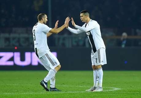 Cristiano Ronaldo marcou o gol da Juventus de pênalti