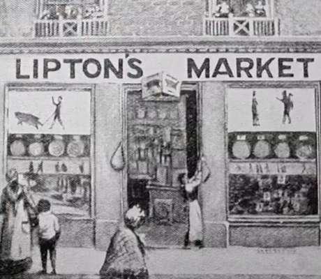 A primeira loja Lipton em Glasgow mostrou ser um sucesso