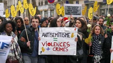 95% dos judeus franceses veem o antissemitismo como uma questão muito ampla ou razoavelmente ampla