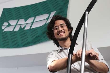 O deputado eleito Kim Kataguiri (DEM), co-fundador e coordenador do Movimento Brasil Livre