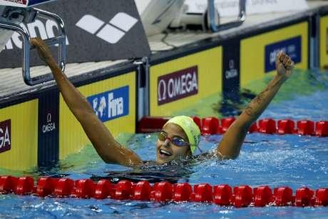 Etiene Medeiros leva bronze nos 50m livre do Mundial de piscina curta (Foto: Satiro Sodré/SS Press/CBDA)