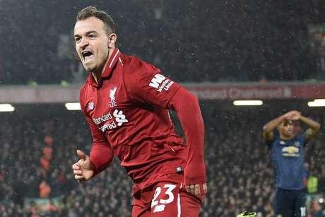 Shaqiri marcou duas vezes e deu a vitória ao Liverpool